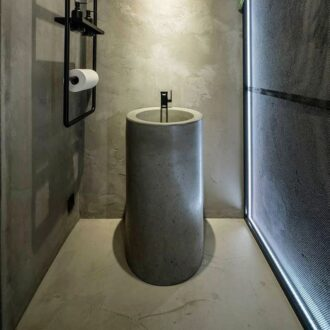 Напольная раковина из бетона
