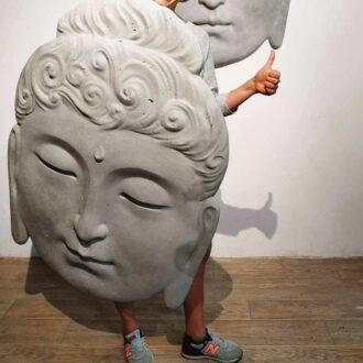 Декоративне настінне панно з бетону «Будда»