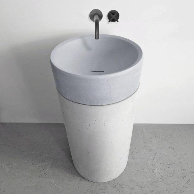 підлоговий умивальник з бетону odri