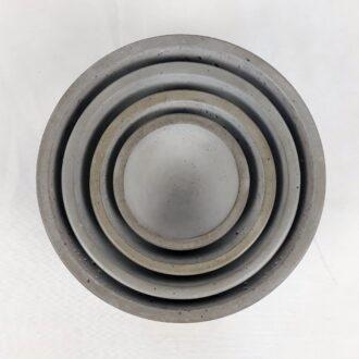 Комплект вазонів з бетону Півсфера 4 штуки