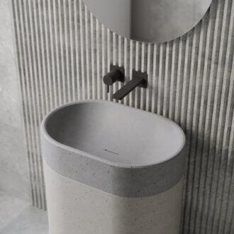 Напольная раковина из бетона «Monro»