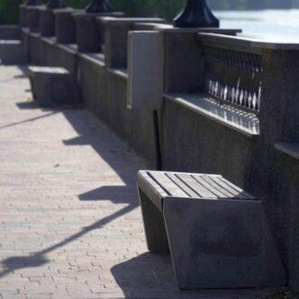 Лавочка из бетона